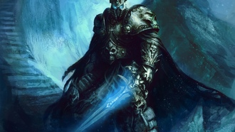 меч, шлем, ступени, lich king, wow, World of warcraft, arthas, броня, fanart