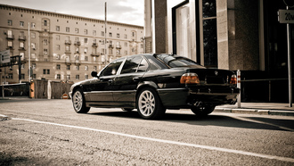 e38, wallpapers, car, обои, бмв, Bmw 750