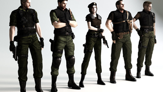 art, Resident evil, biohazard, albert wesker, chris redfield, fan, обитель зла