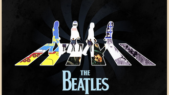 abbey road, john lennon, john harrison, The beatles, ringo starr, rock, paul mccartney