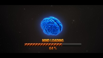 loading, Brain, space, mind, percentages