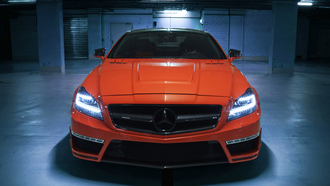 front, tuning, mercedes-benz, обои, German special customs, gsc, car, amg, orange, cls 63