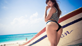 ass, water, Ariel rebel, panties, boat, beautiful, beach, perfect