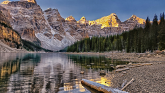 озеро морейн, valley of the ten peaks, Moraine lake, canada, banff national park