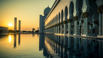 abu dhabi, Grand mosque, город