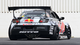 Mazda, red-bull racing, rims, rx-8, drift, spoiler, widebody, sportcar, tuning, team, competition