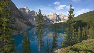 canada, озеро морейн, banff national park, Moraine lake, valley of the ten peaks