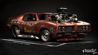 pontiac gto, american muscle, car, hot rod