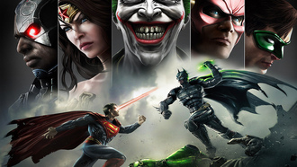 joker, wonder women, green lantern, superman, injustice gods among us, batman, flash, улыбка