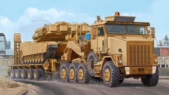 vincent wai, рисунок, 8x8, heavy equipment transport, oshkosh m1070 het