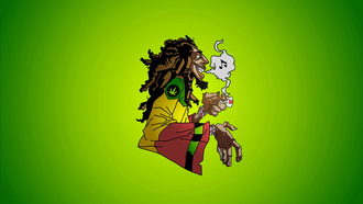 caricature, ska, music, rocksteady, jamaica, reggae, smoke, marijuana, dreadlocks, bob marley