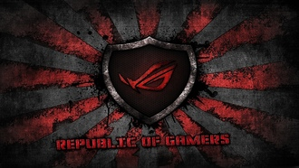 asus gamer, logo, background, rog, asus, grey, sunburst, republic of gamers, red, brand
