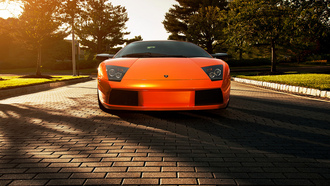 lamborghini, ламборгини, ламборджини, мурселаго, murcielago, orange