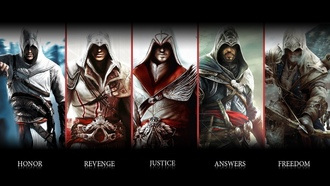 альтаир, assassins creed, коннор, ubisoft, эцио, убийца, анимус