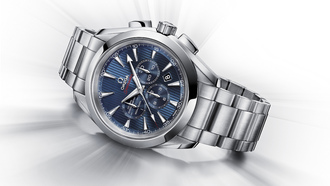 часы, chronograph, _london 2012_, seamaster aqua terra co-axial, omega