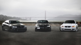e90, white, m3, 330i, golden gate, black, bmw, e92, bridge, бмв, matte black, купе