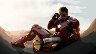robert downey jr, fan art, tony stark, iron man
