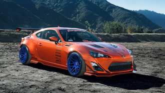 mountain, rims, wheels, tuning, style, toyota, 86, widebody, fr-s, orange, scion, spoilers