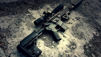weapon, scope, m16