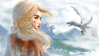 живопись, daenerys targaryen, emilia clarke, игры престолов, game of thrones