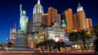 night, casino, vegas, hotel, street