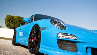 supercars, auto, cars wall, blue, обои авто, porshe gt3 rs, cars
