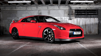 gtr, nissan, car, black-red