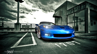 z06, corvette, mesh eight, blue devil