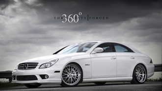 hd wallpapers, mercedes cls, белый мерс на рабочий стол, 360 forged
