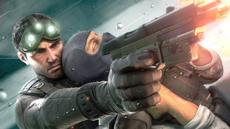 tom clancys splinter cell, выстрел, пистолет, chaos theory