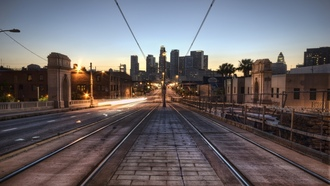 california, lights, los angeles, лос-анджелес, калифорния, downtown la