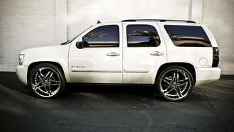 rims, 2008, chevy, wall, tuned, white, arizona, tahoe