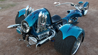trike, troubled-waters-by-phoenix-trike-works, авто обои, тачки, 911, porsche, фото, auto wallpapers, авто, трайк, cars