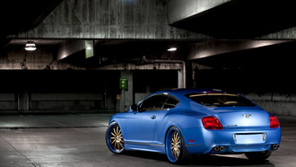 континенталь, blue, wald, бентли, continental, 360 three sixty forged, задняя часть, bentley, gt, тюнинг, голубой