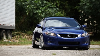 honda, accord, vossen wheels, on