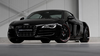r8, black, front, angle