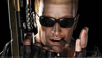 пистолет, сигара, game wallpaper, duke nukem, очки, forever