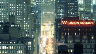 нью-йорк, w union square, ночь, night, nyc, usa, огни, grand central terminal, park avenue, new york city