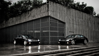 мерс, mercedes benz, диски, tuning, два, cls