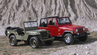 willys mb, камни, wrangler, гора, jeep, старый, новый, mixed