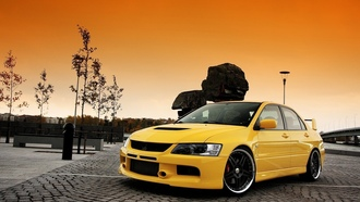mitsubishi lancer, auto, wallpers