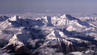 mount ushba, снег, mountain range, вершины, caucasus, горы
