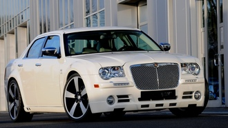 white, 300c, crysler, startech, sedan