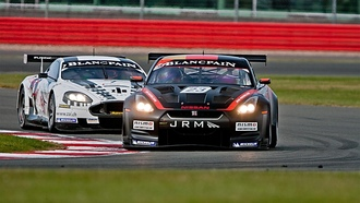 jrm battle wide, nissan gt-r, aston martin db9