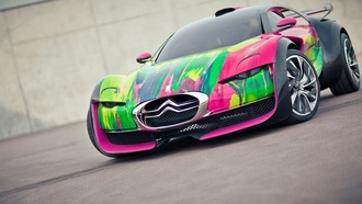 art concept, car, survolt, citroen