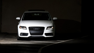 audi a4, parking, cars, сity, обои авто, cars wall, auto, wallpapers, темный фон
