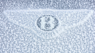 car, машина, macro, sign, снег, bentley continental gt, snow, 3000x2001, знак