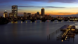 массачусетс, massachusetts, закат, город, boston, sunset, бостон
