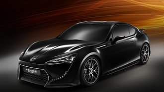 toyota, ft86, black, wallpaper