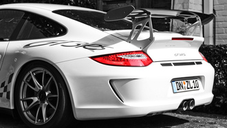 стоянка, wallpapers, wallpapers auto, cars, парковка, white, вид с зади, porshe gt3 rs, auto